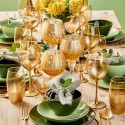 Комплект от 18 чаши за 6 човека CLORY GOLD