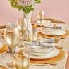 Сервиз за хранене 24 части от керамика ALLURE оранжев кант