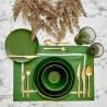 Сервиз за хранене 24 части от керамика ALLURE зелен