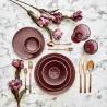 Сервиз за хранене 24 части от керамика ALLURE бордо