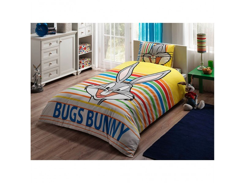 TAC детски спален комплект Bugs Bunny Strıped