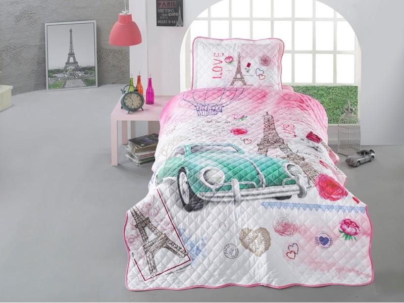 Покривка за детско легло с калъфка Romantic