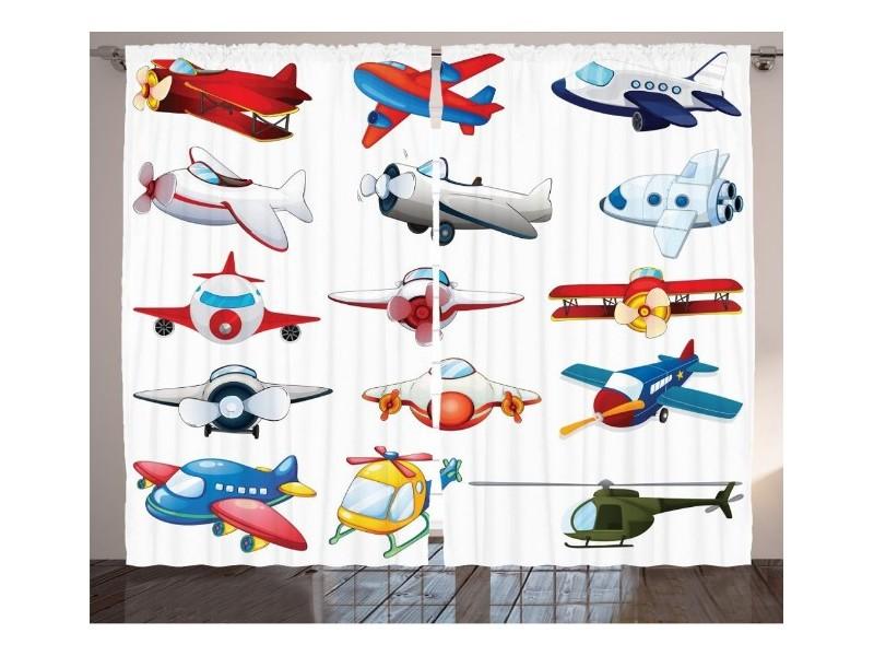 Детски пердета 3D, комплект Самолети
