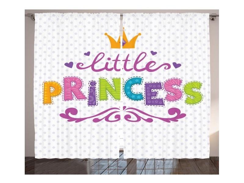 Детски пердета 3D, комплект Малка Принцеса