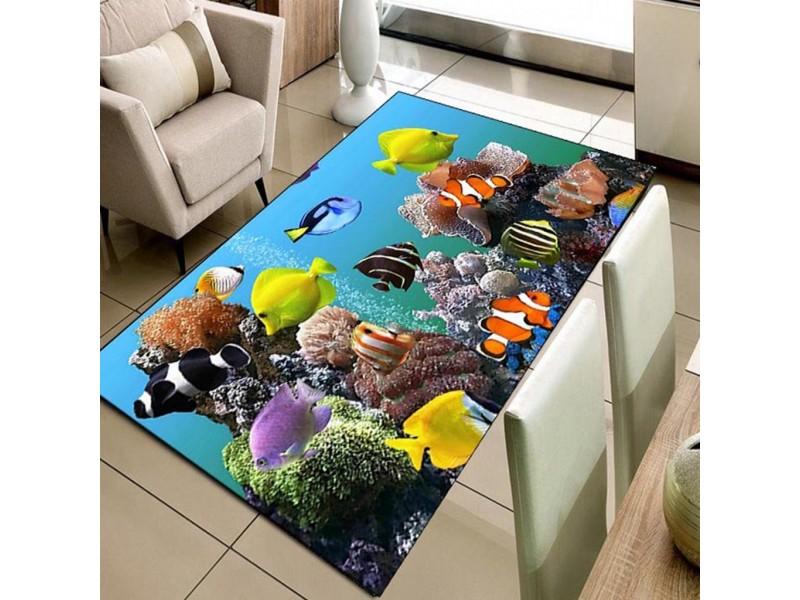 Детски килими 3D принт, 133х190 см. Коралов риф