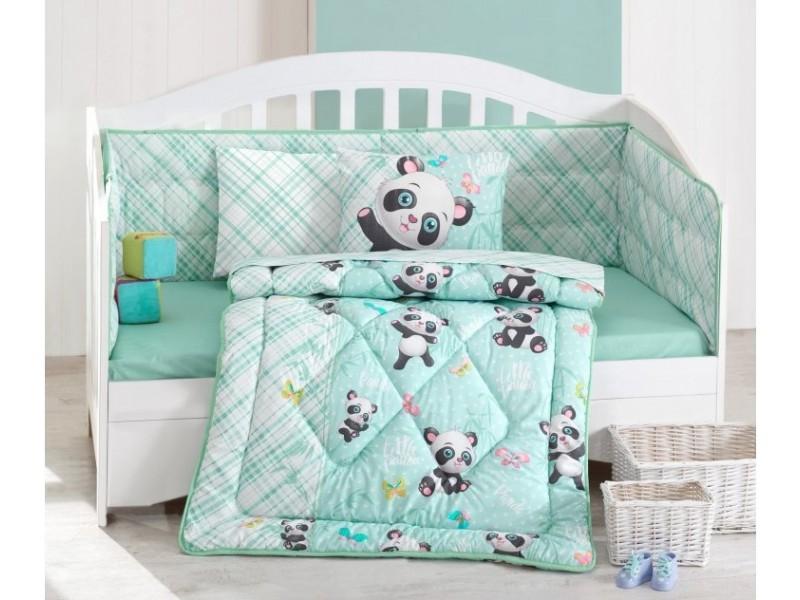 Бебешки комплект със завивка Panda