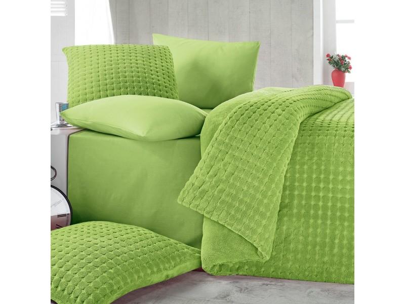 Софт покривало + чаршафи - Jakard Soft - зелено