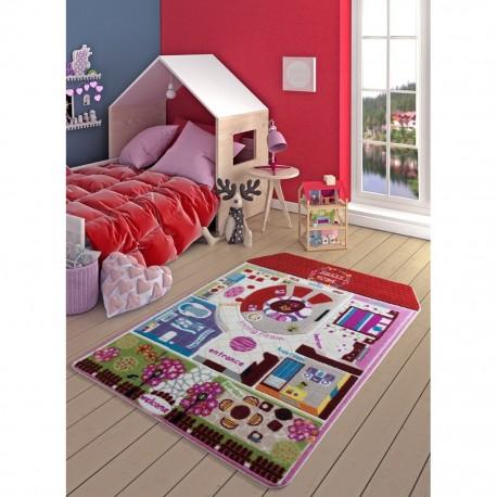 Детски килим 133х190 см. Красив дом