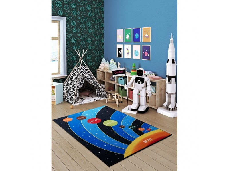 Детски килим 133х190 ГАЛАКТИКА