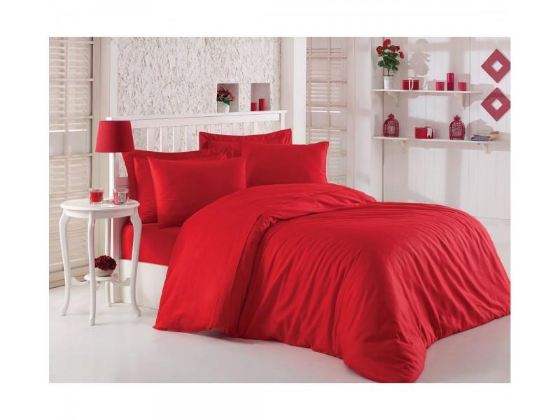 Двоен комплект Fashion сатен , червен