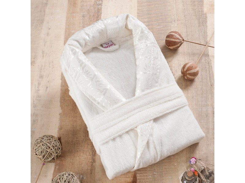 Халат за баня от 100% бамбук Varol - бял