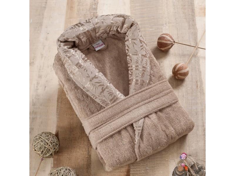 Халат за баня от 100% бамбук Varol - кафе