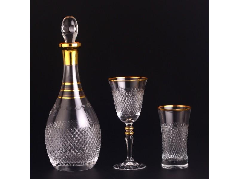 Сервиз кристални чаши за 12 човека VIZION GOLD