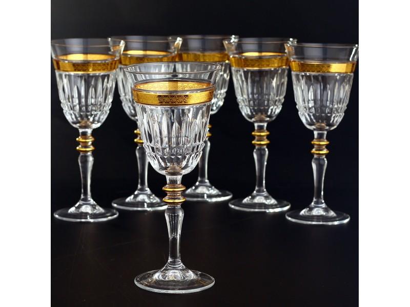 Сервиз кристални чаши за 12 човека ЕZGI GOLD