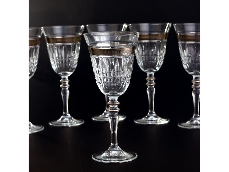 Сервиз кристални чаши за 12 човека ЕZGI PLATIN