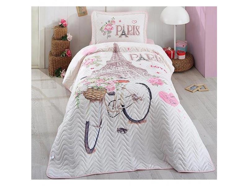 Покривка за детско легло с калъфка MY PARIS