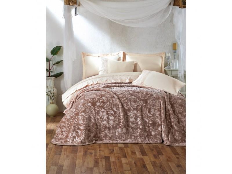 Двоен спален комплект с одеяло ENBROSS бежово