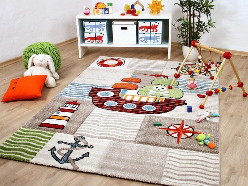 Детски релефен килим 160 х 230 см. ПИРАТСКИ КОРАБ