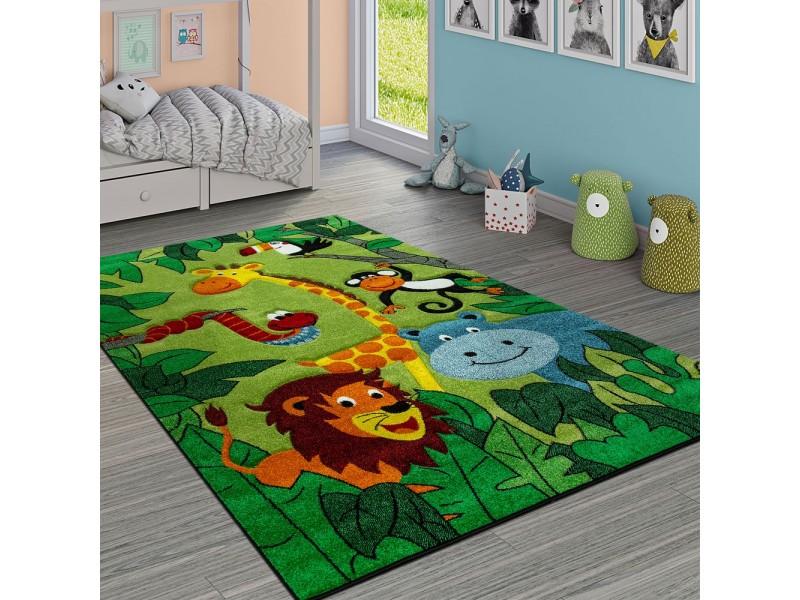 Детски релефен килим 160 х 230 см. Джунгла