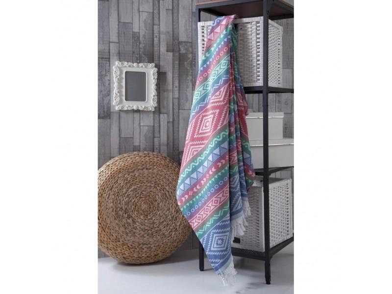 Плажно одеяло (пещемал) 190х220 см. - т.розово