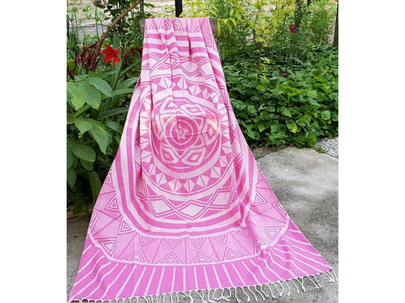 Плажна кърпа (пещемал) Анталия розова