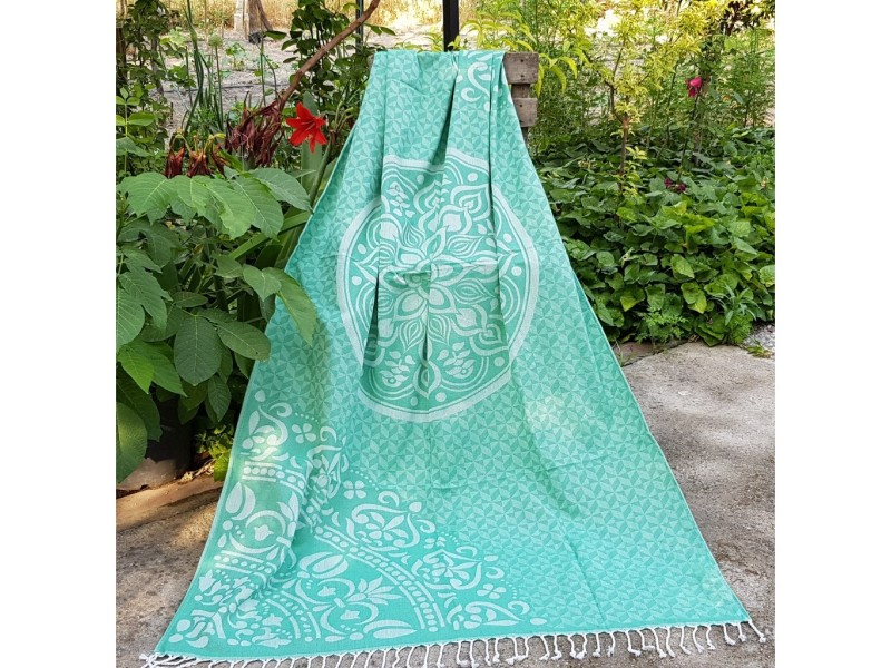 Плажна кърпа (пещемал) Анталия зелена