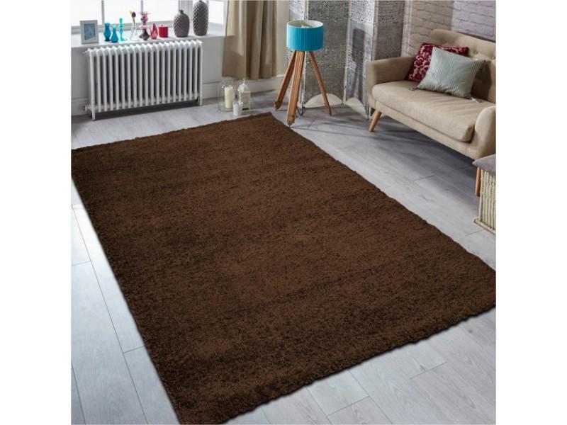 Шаги килим, 160х230 см. ТЪМНО КАФЯВ