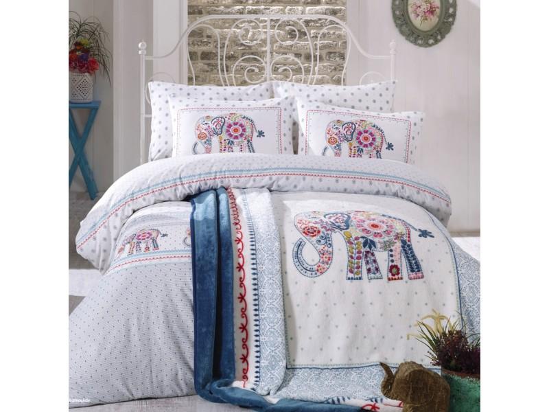 Двоен спален комплект + одеяло FELICIA