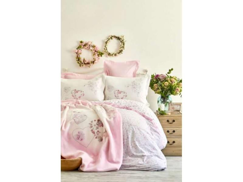 Двоен спален комплект + одеяло GILDA
