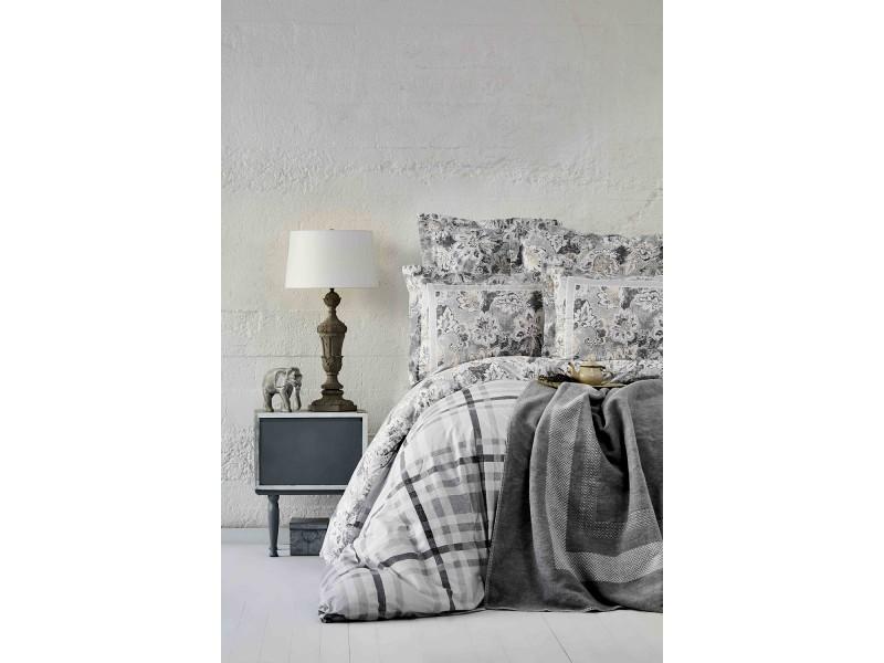 Двоен спален комплект + одеяло PLAID