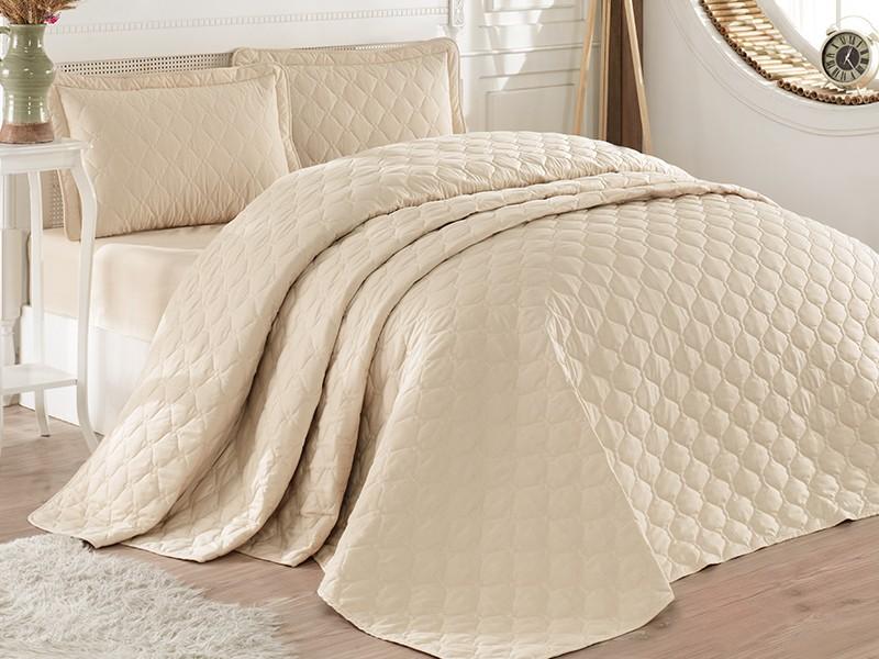 Покривка за легло, двойна -RABEL бежова