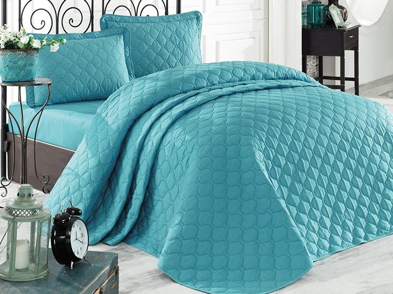 Покривка за легло, двойна -RABEL синя