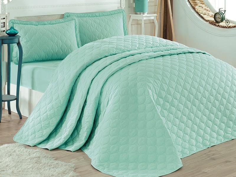 Покривка за легло, двойна -RABEL зелена