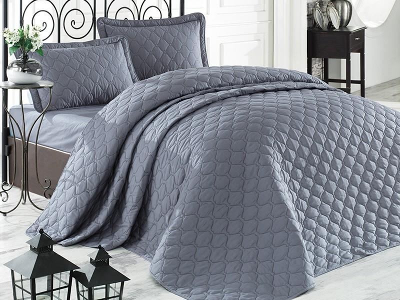 Покривка за легло, двойна -RABEL сива