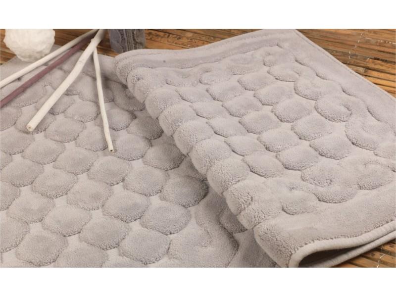 Килими за баня от памук 2 части СИВИ