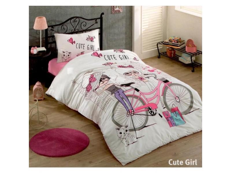 Единичен спален комплект CUTE GIRL