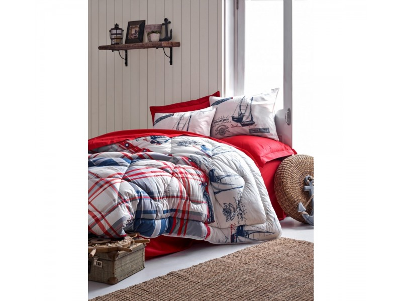 Олекотен спален комплект MARITIME червен