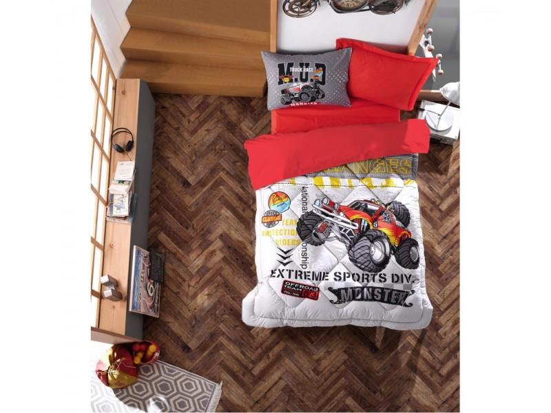 Детски олекотен спален комплект MONSTER