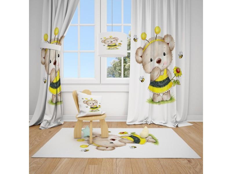 Пердета за детска стая и килим , комплект PRETTY