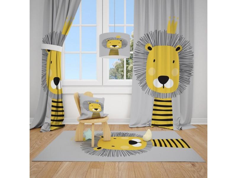 Пердета за детска стая и килим , комплект BABY BEAR