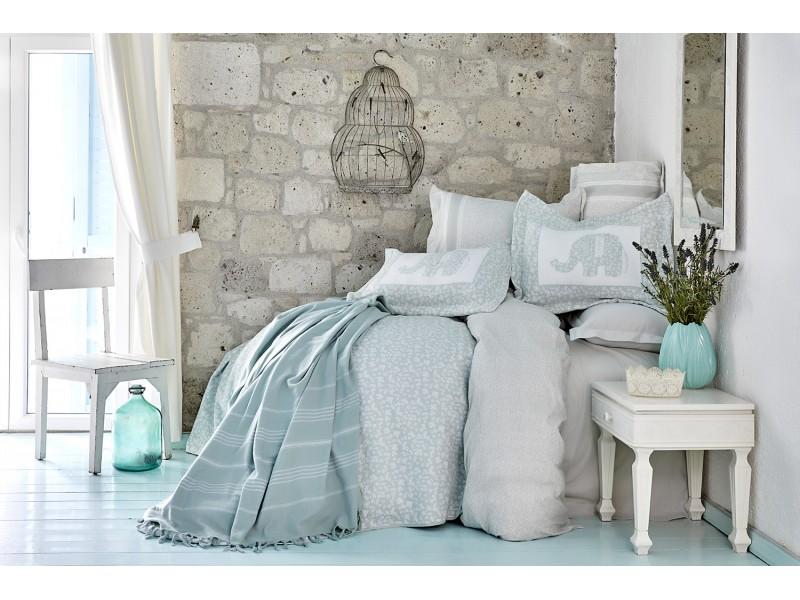 Спален комплект + Кувертюра+ Пике - Летен сет, бледо зелено