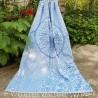 Плажна кърпа (пещемал) Сима -светло синьо
