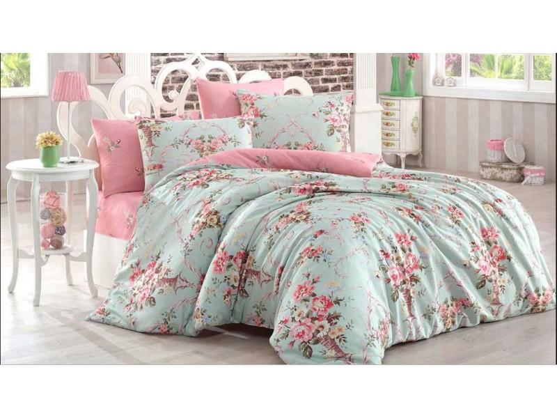 Спален комплект двоен размер -2 FLOWER розово