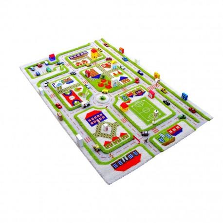 Детски килим за игри IVI - 160х230 см. TRAFFIK зелен