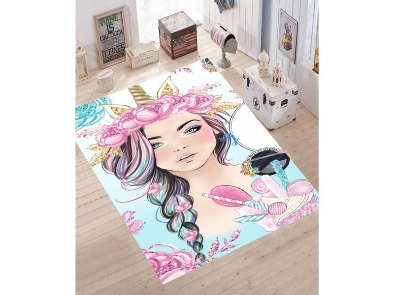 Детски килим 3D принт, 133x190 см. MY GIRLS 2
