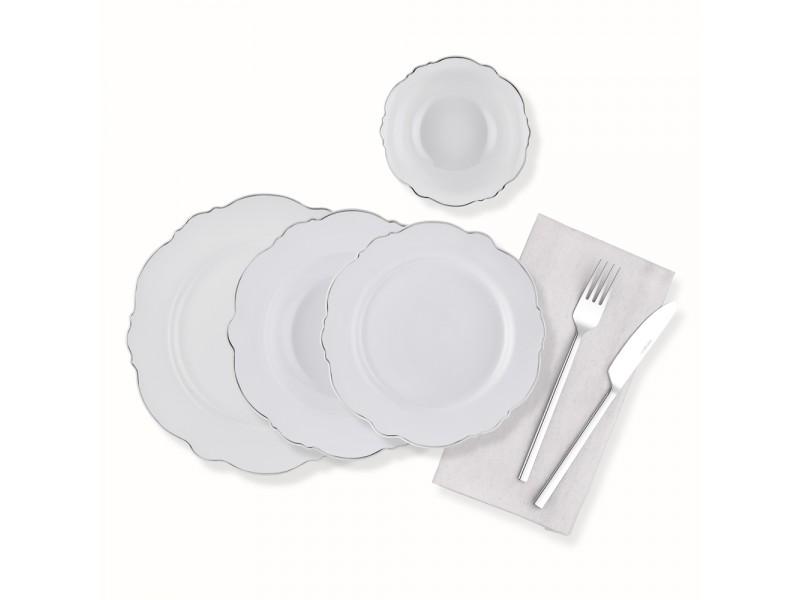 Сервиз за хранене порцелан 24 части PLATINUM