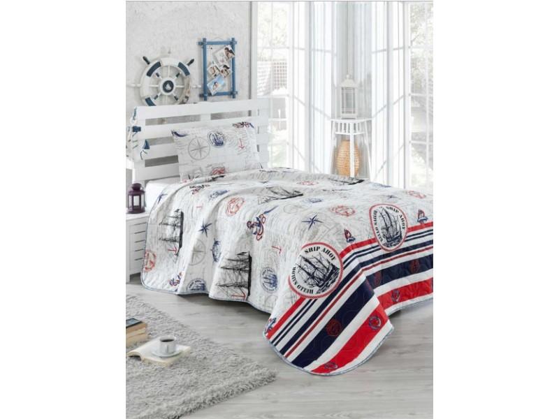 Покривка за детско легло с калъфка MARINE