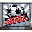 Детски пердета 3D, комплект Football 2