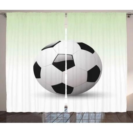 Детски пердета 3D, комплект Football 4