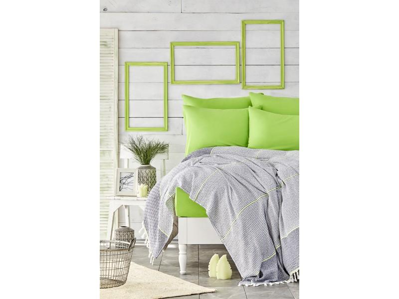 Летен комплект ПИКЕ + чаршафи и калъфки RAPSODY зелено